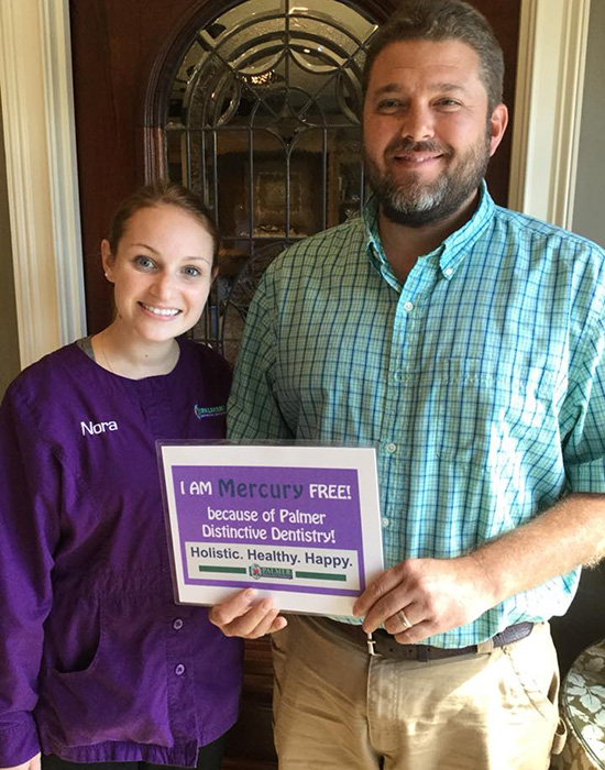 Smilling Matured Patient with Dental Assistant Nora at Palmer Distinctive Dentistry in Greenville, Sc Area
