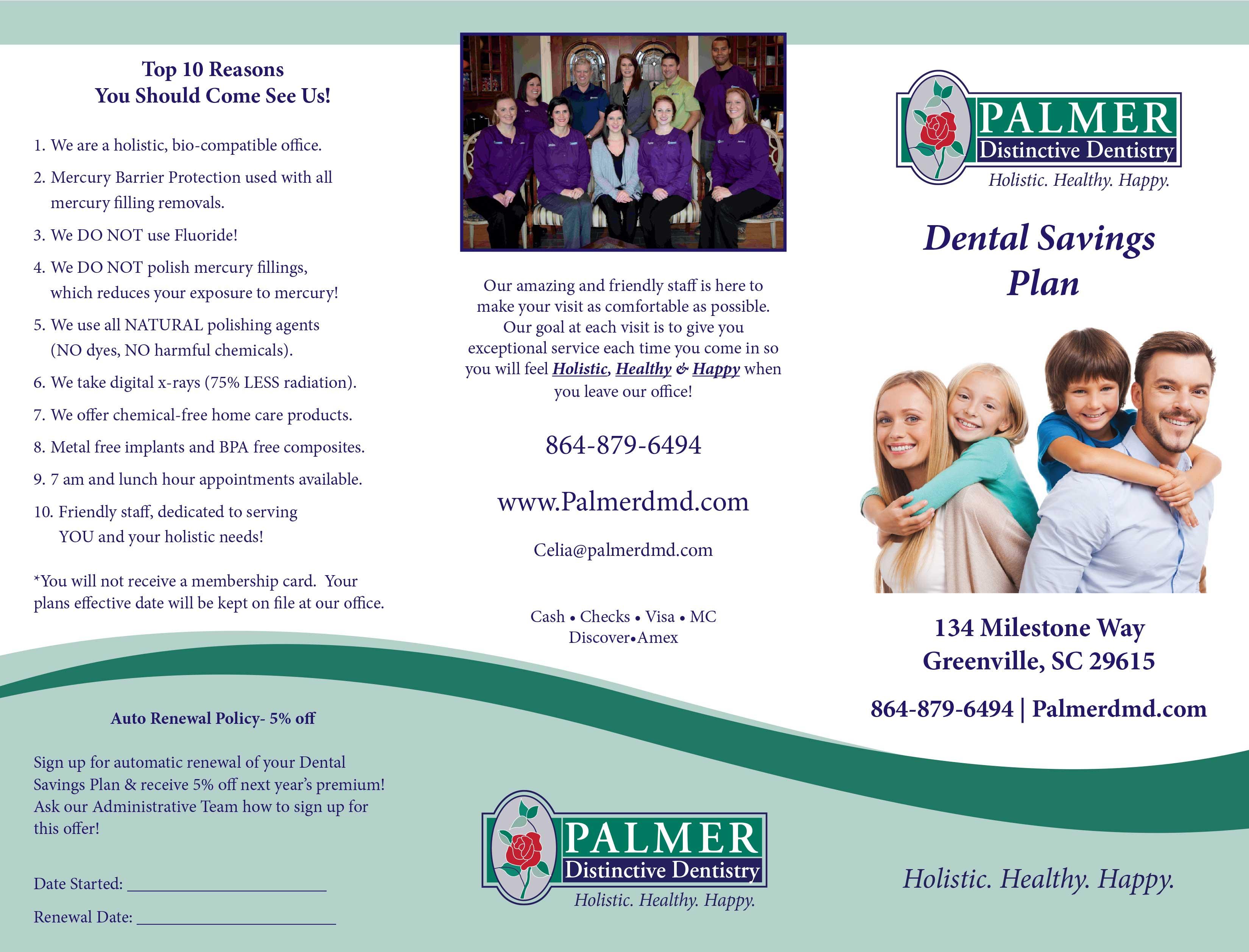 Dentist Greenville SC - Dental Savings Plan 1