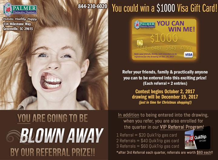 Win $1000 Visa Gift Card from Palmer Distinctive Dentistry