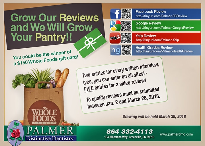 Review Card of Dr. Palmer DMD