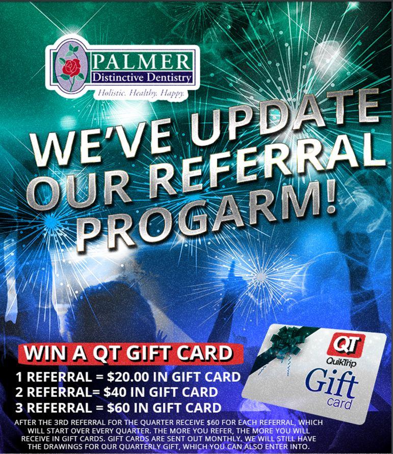 Referral Rrogram Brochure, Dr. John Palmer, Palmer Distinctive Dentistry