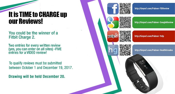 Charge Up Our Reviews Banner, Palmer Distinctive Dentistry